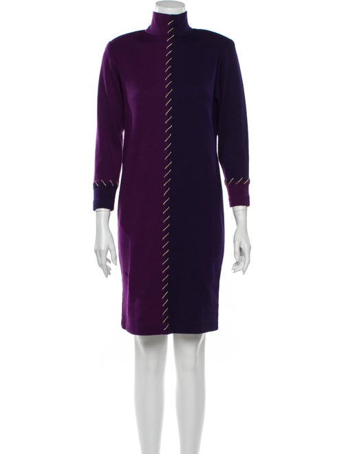 Bill Blass Vintage Knee-Length Dress Wool