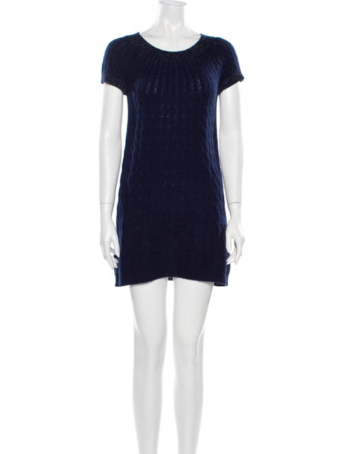 Bill Blass Cashmere Mini Dress Blue