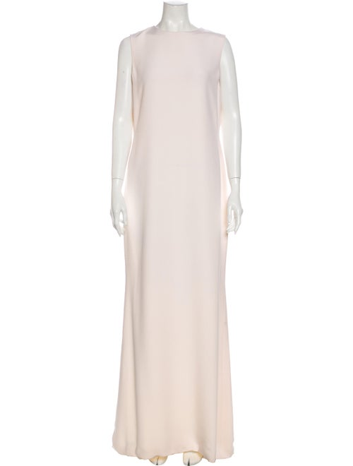 Bill Blass Crew Neck Long Dress