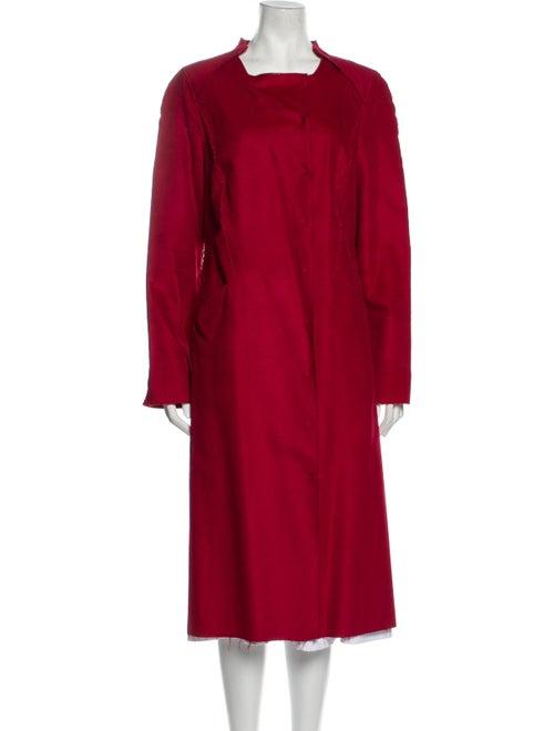 Bill Blass Trench Coat Red