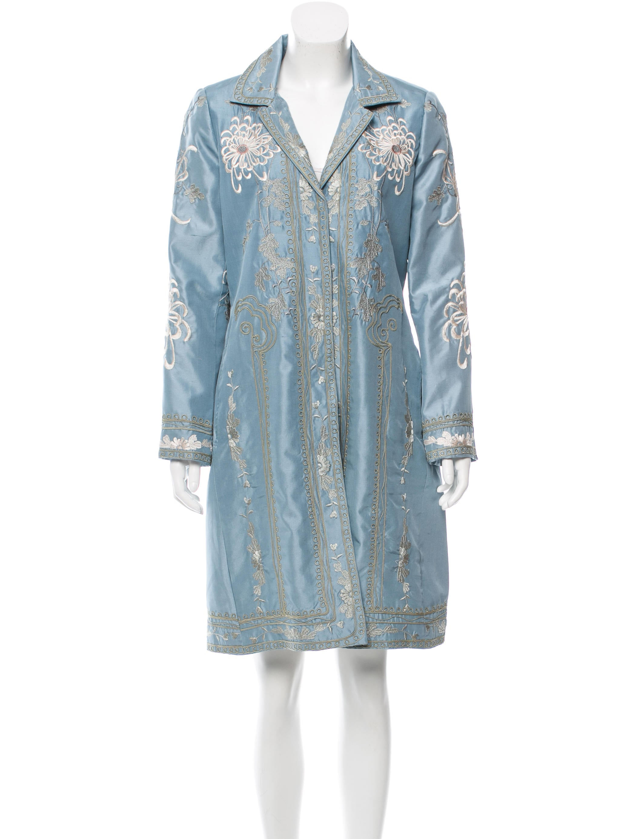 Biyan Embroidered Silk Jacket - Clothing - BIY20011 | The RealReal
