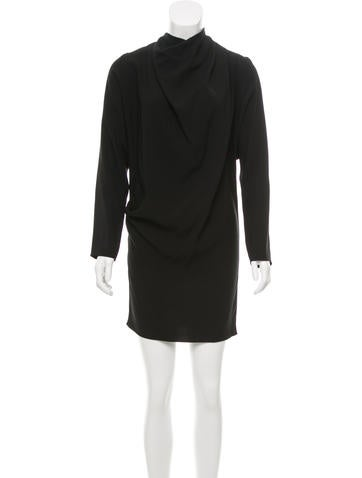 Bouchra Jarrar Cowl Neck Mini Dress