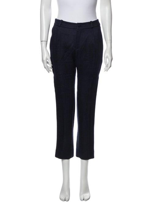 Bouchra Jarrar Tweed Pattern Straight Leg Pants Bl
