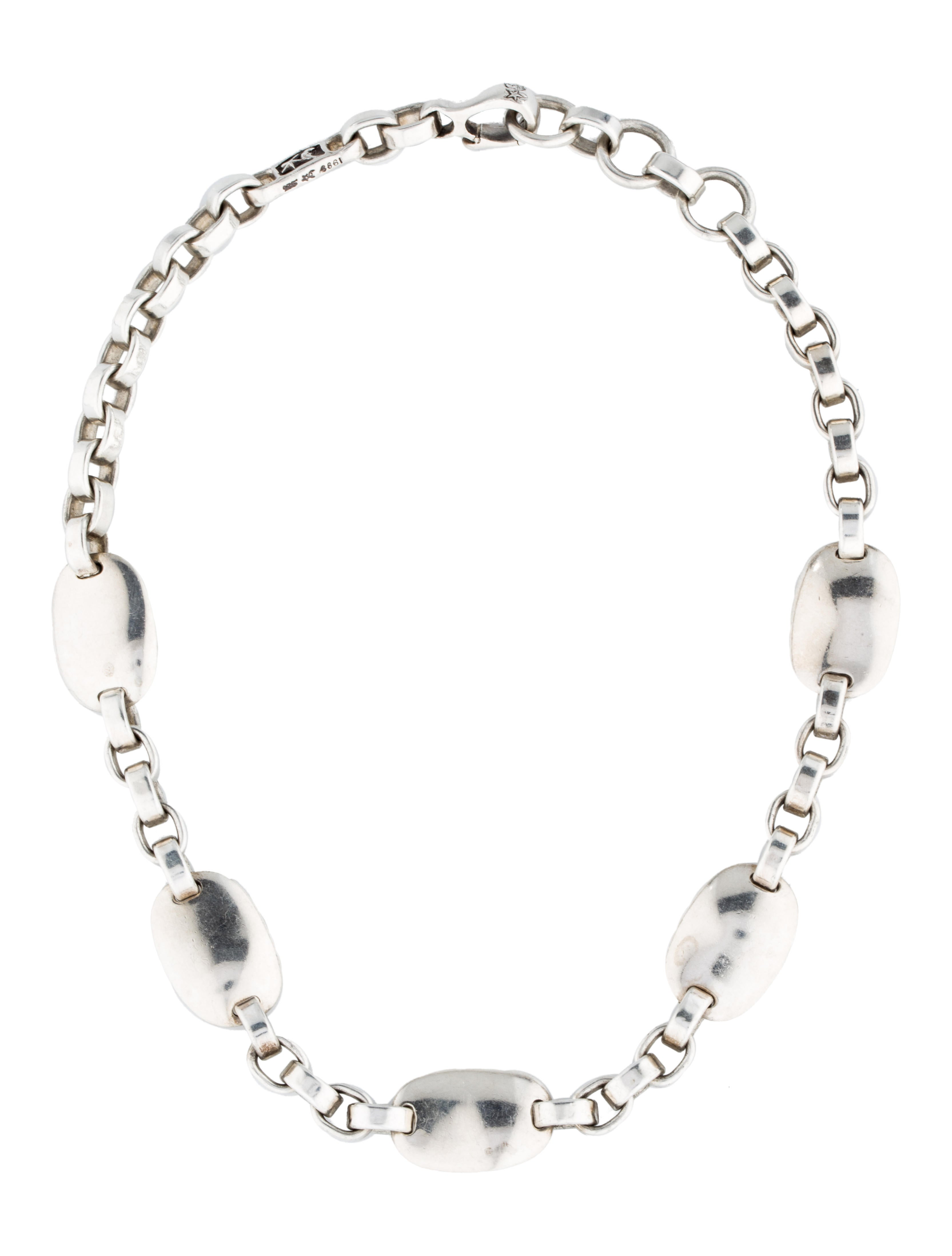 Barry kieselstein cord sterling link necklace necklaces for Barry kieselstein cord jewelry