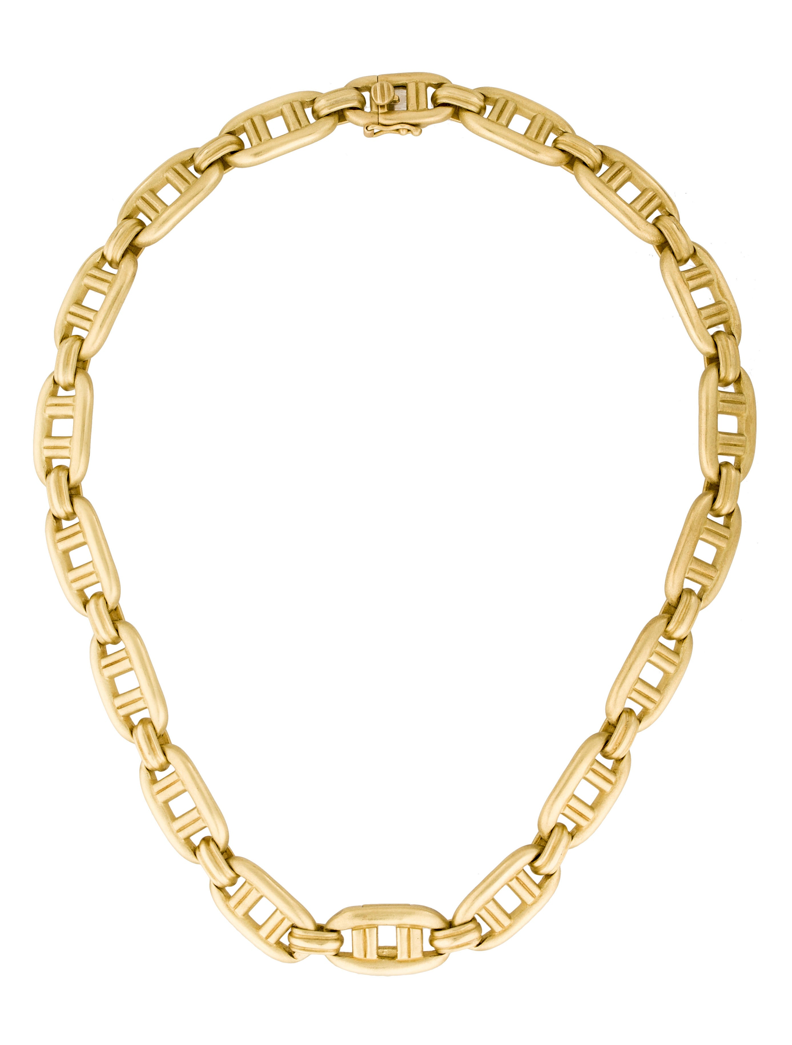 Barry kieselstein cord 18k chain link necklace necklaces for Barry kieselstein cord jewelry