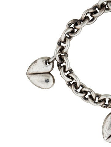 Barry kieselstein cord heart charm bracelet bracelets for Barry kieselstein cord jewelry