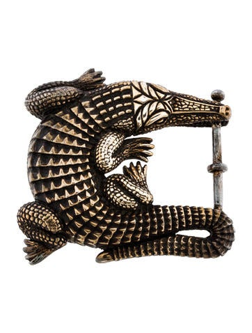 Sterling Grand Alligator Belt Buckle