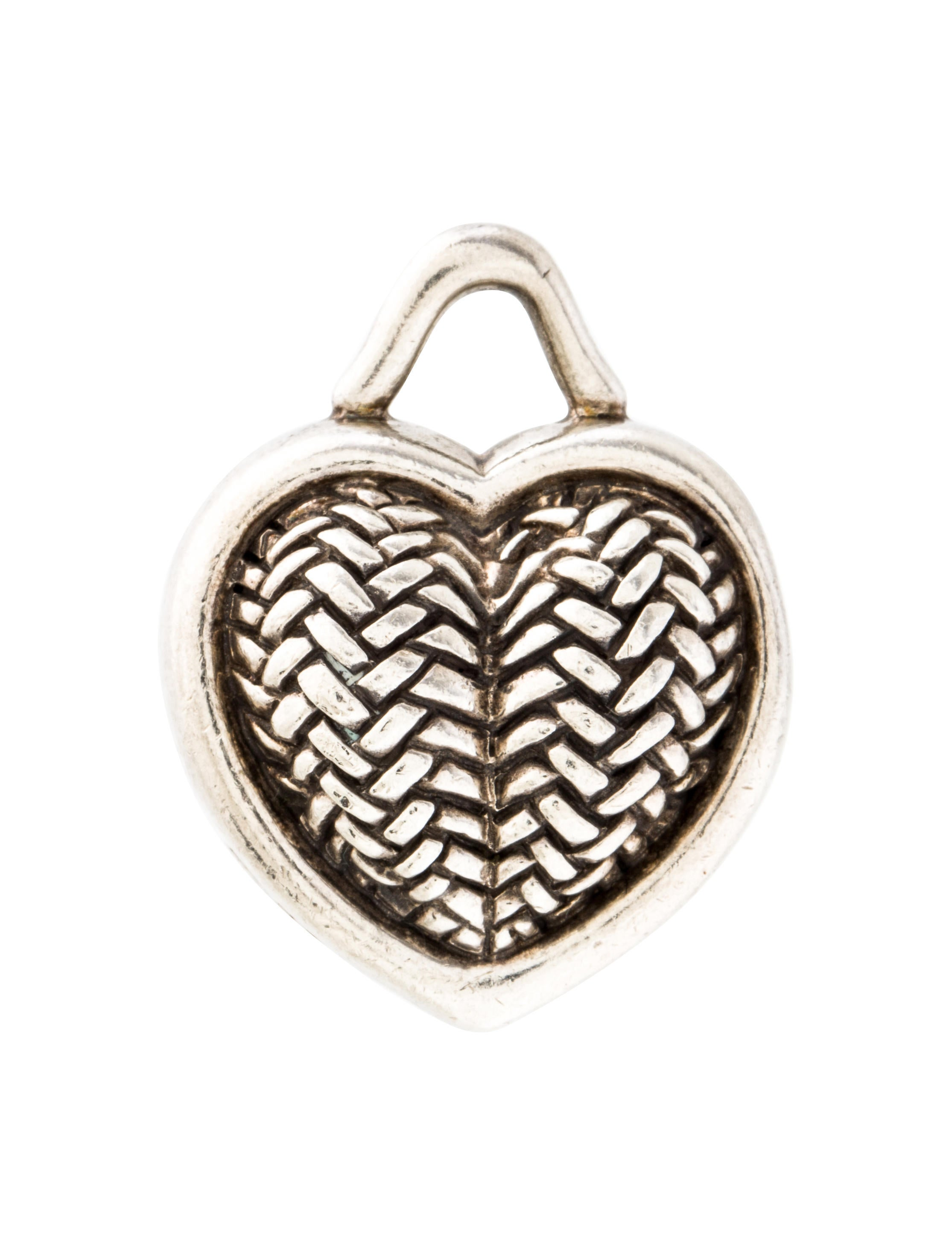 Barry kieselstein cord heart charm pendant necklaces for Barry kieselstein cord jewelry
