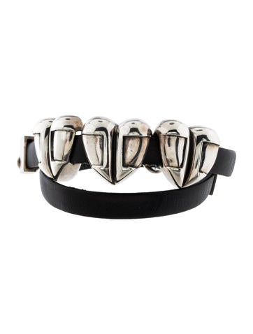 Barry Kieselstein-Cord Heart Charms Leather Wrap Bracelet