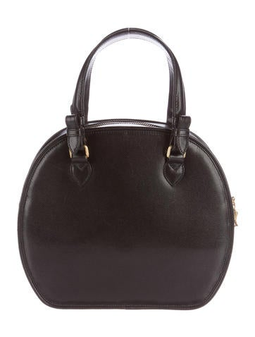 Pebbled Leather Turtle Handle Bag