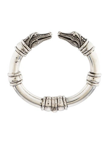 Barry kieselstein cord double alligator head bracelet for Barry kieselstein cord jewelry