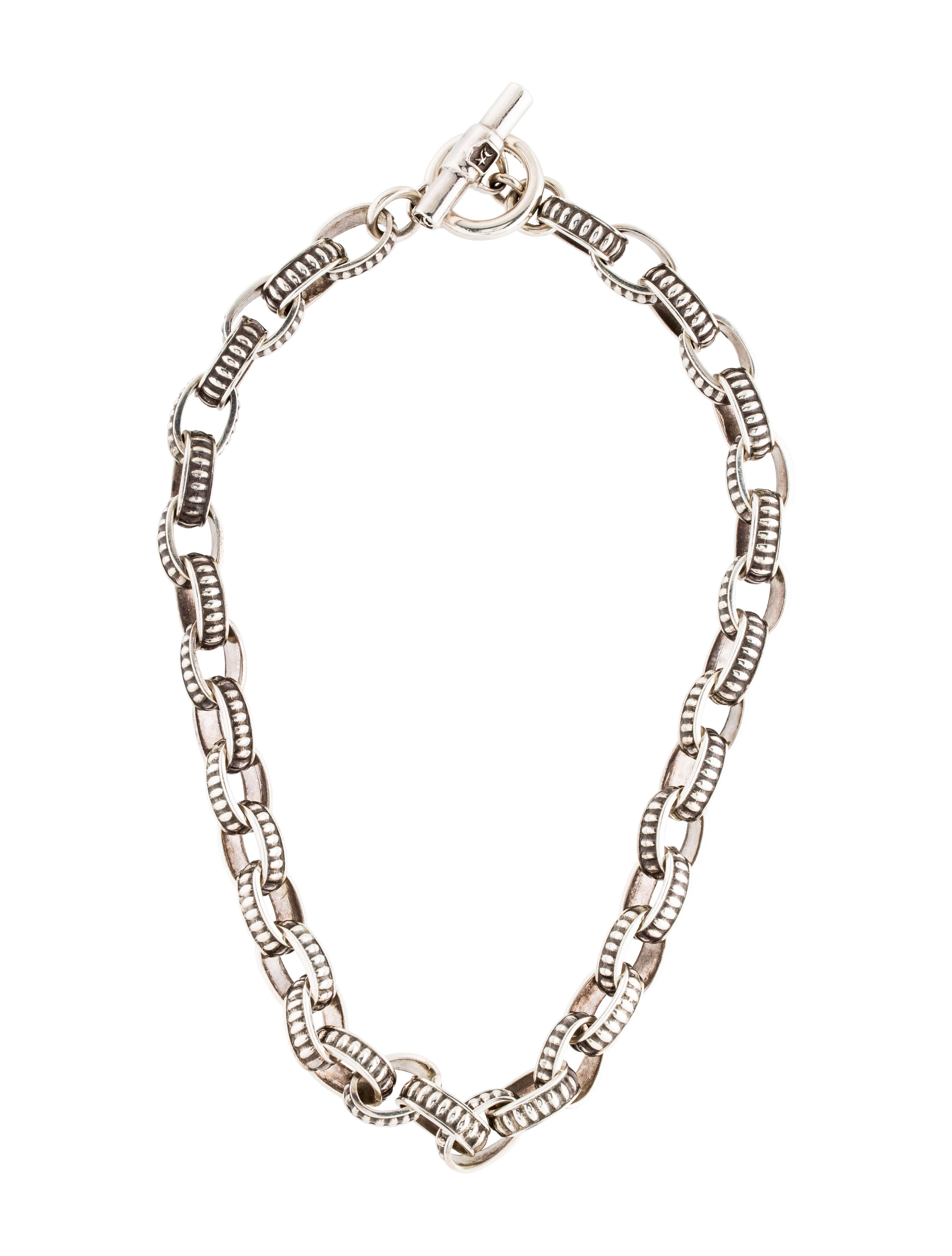 Barry kieselstein cord oval link necklace necklaces for Barry kieselstein cord jewelry