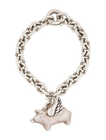 Barry kieselstein cord flying pig charm bracelet for Barry kieselstein cord jewelry