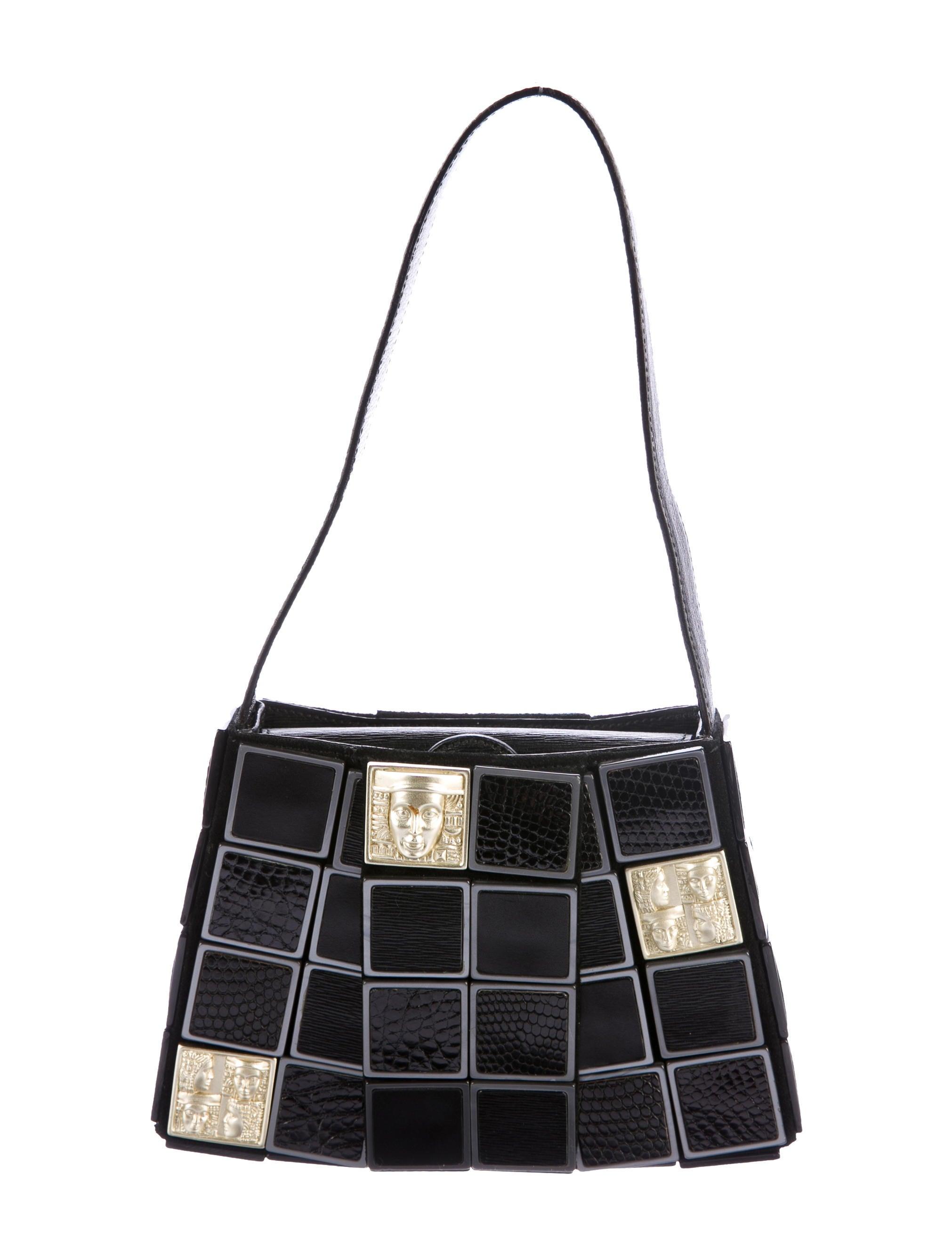 Kieselstein Cord Lizard Crocodile Accented Women Of The World Tiles Bag Handbags Bkc22551