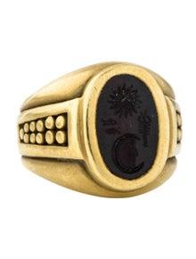 d360420fd Kieselstein-Cord. 18K Onyx Intaglio Signet Ring