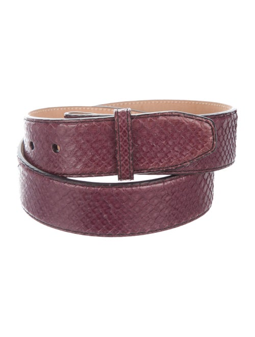 Kieselstein-Cord Python Hip Belt Purple