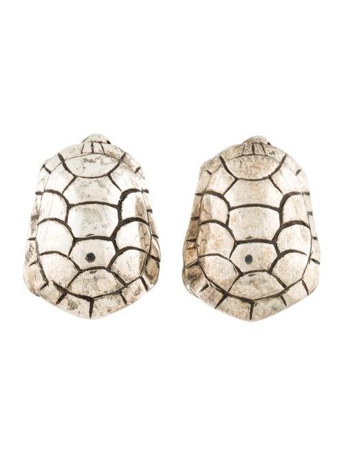 Kieselstein-Cord Tuffy Turtle Clip-On Earrings sil