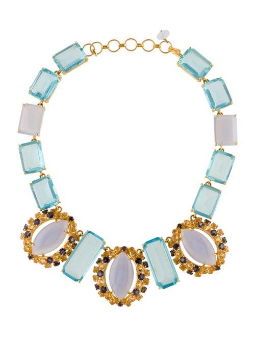 Bounkit Multistone Collar Necklace Gold