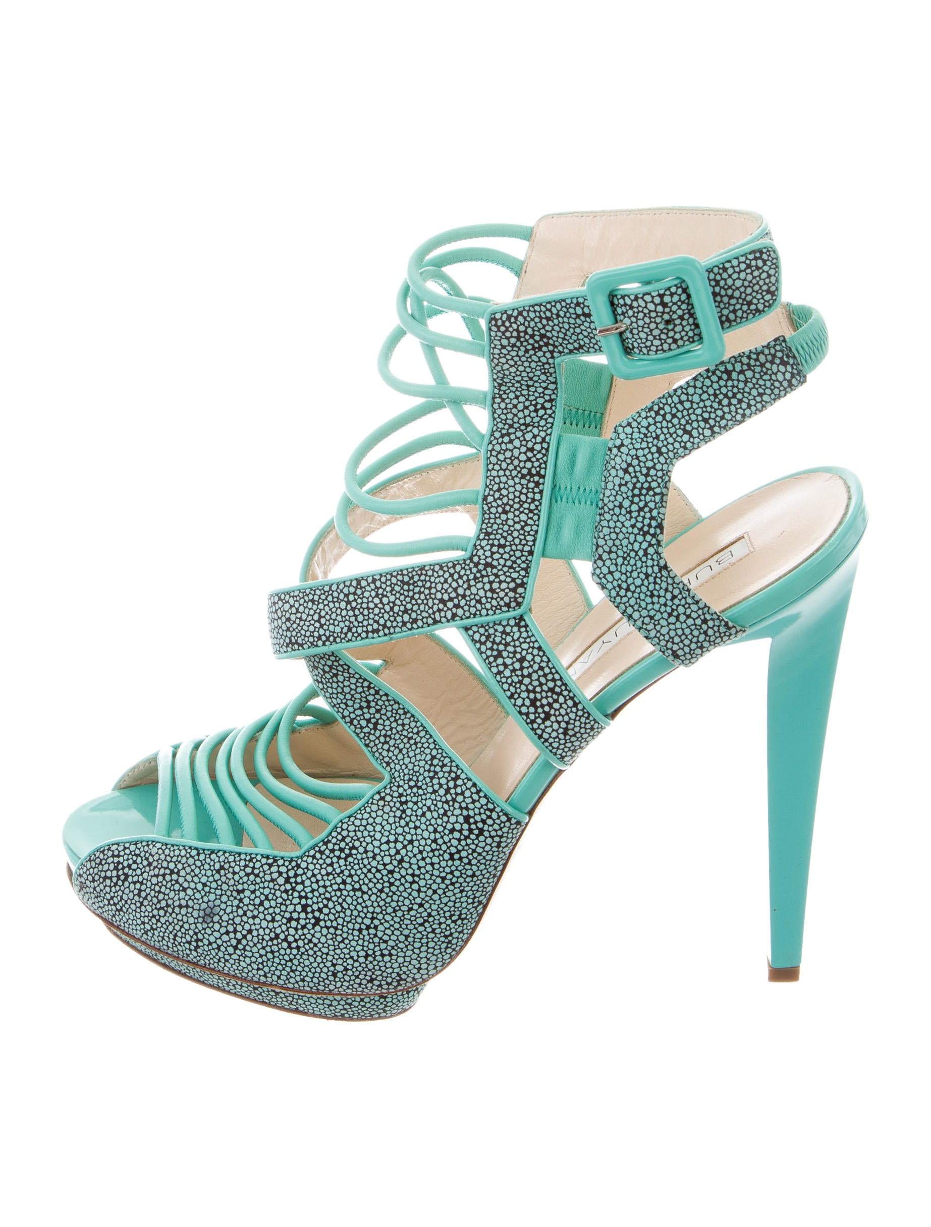 Burak Uyan Printed Multistrap Sandals new styles Cheapest sale online best deals outlet 100% original SoAPp