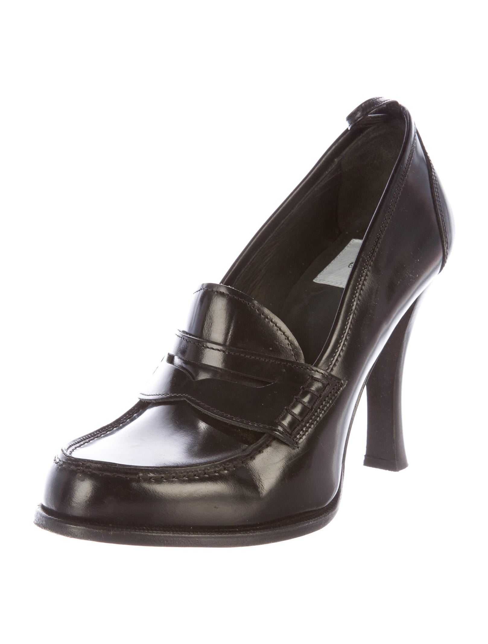 EURO SOFT by SOFFT Women's Black Genuine Leather Loafer Heel Pumps Shoes Sz 7. Condition is Pre-owned. Shipped with USPS Priority Mail.
