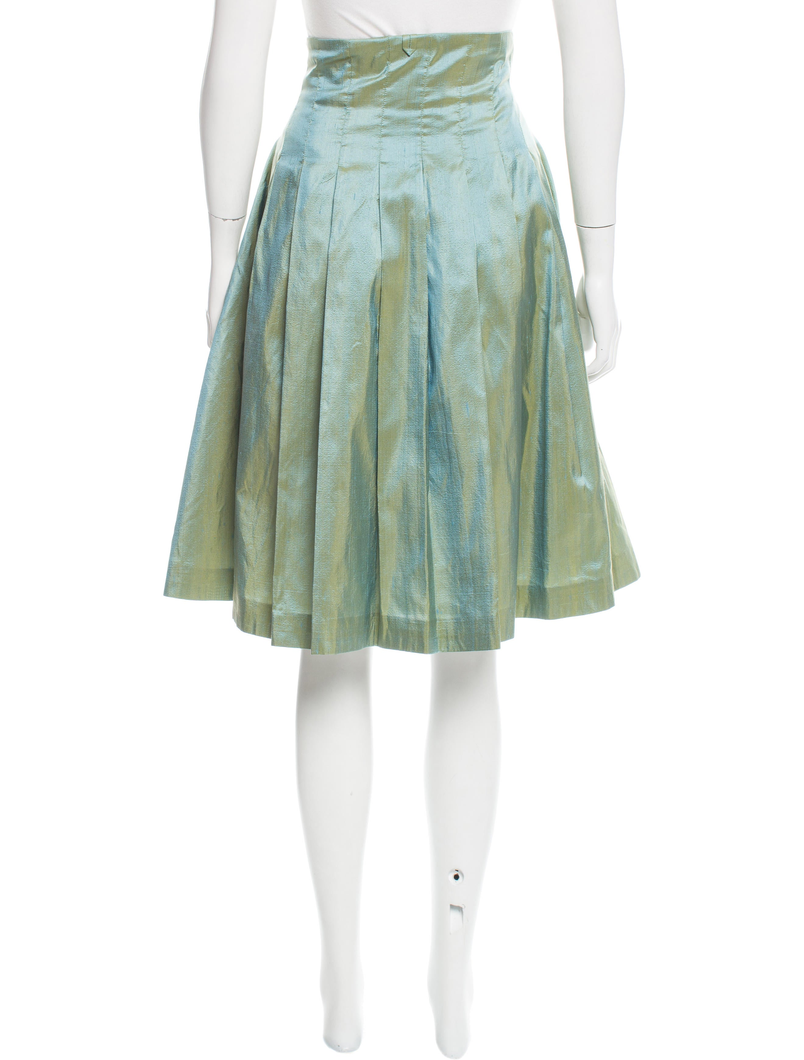 black fleece pleated silk skirt clothing blk20317