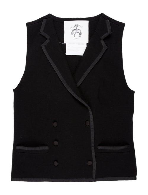 Black Fleece Wool Sweater Vest black