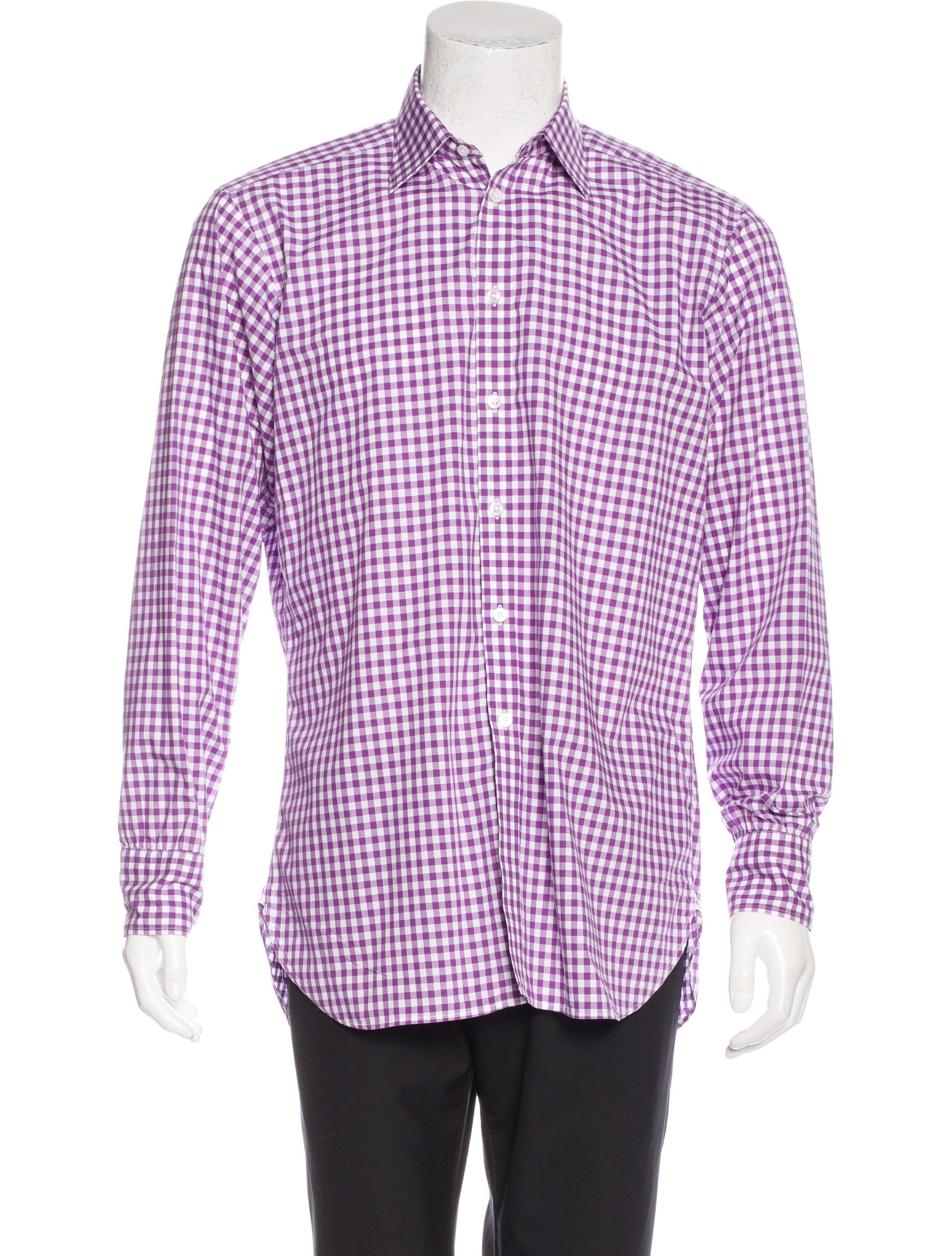 Turnbull asser gingham dress shirt clothing bll20279 for Men s red gingham dress shirt