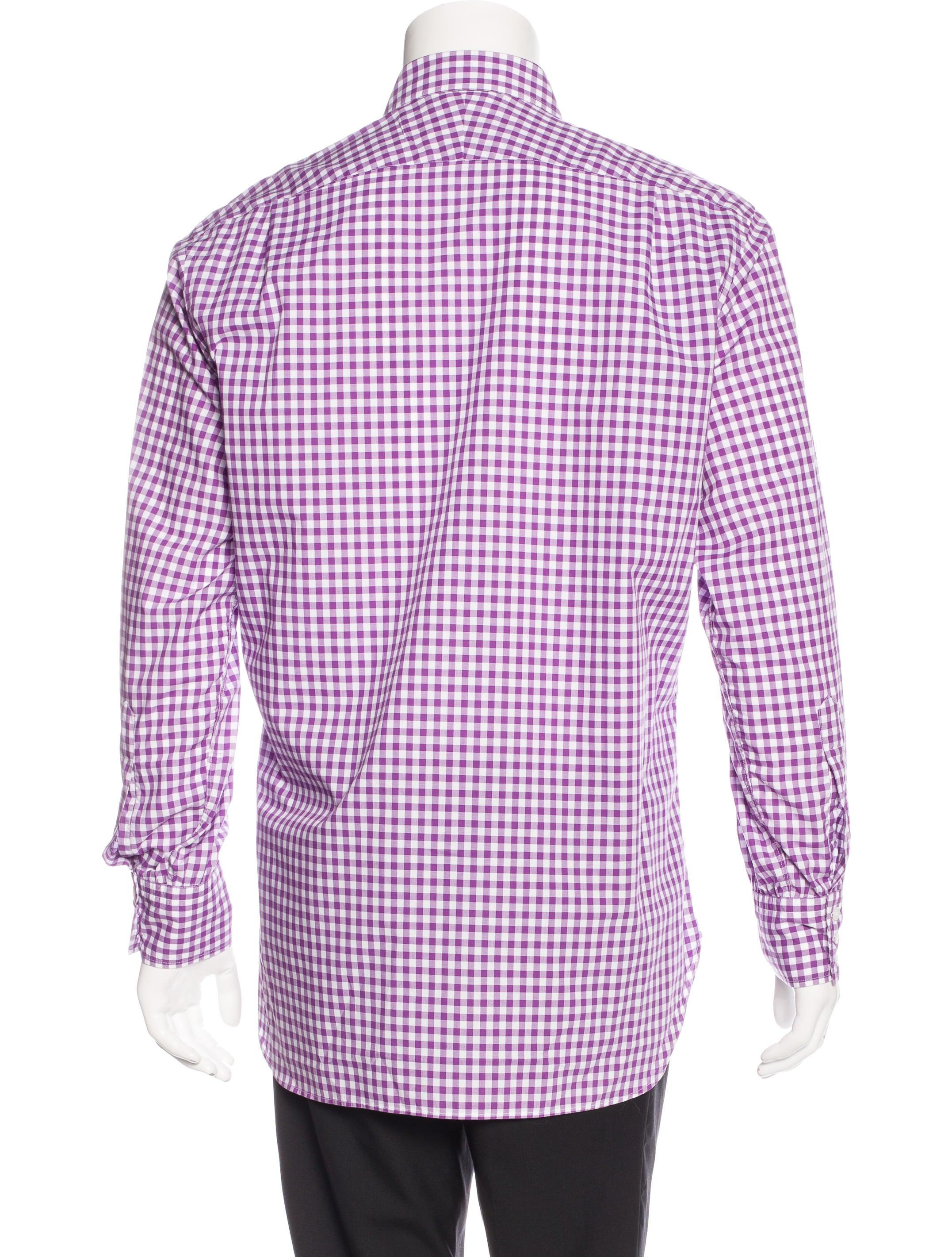 Turnbull asser gingham dress shirt clothing bll20279 for Gingham dress shirt men
