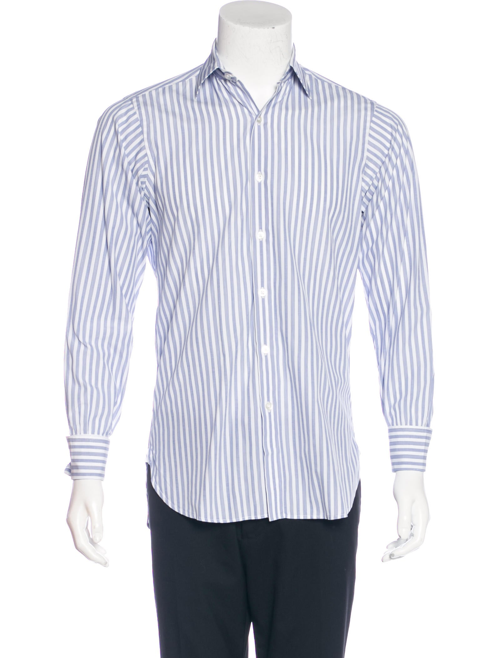 Turnbull asser striped french cuff shirt clothing for What is a french cuff shirt