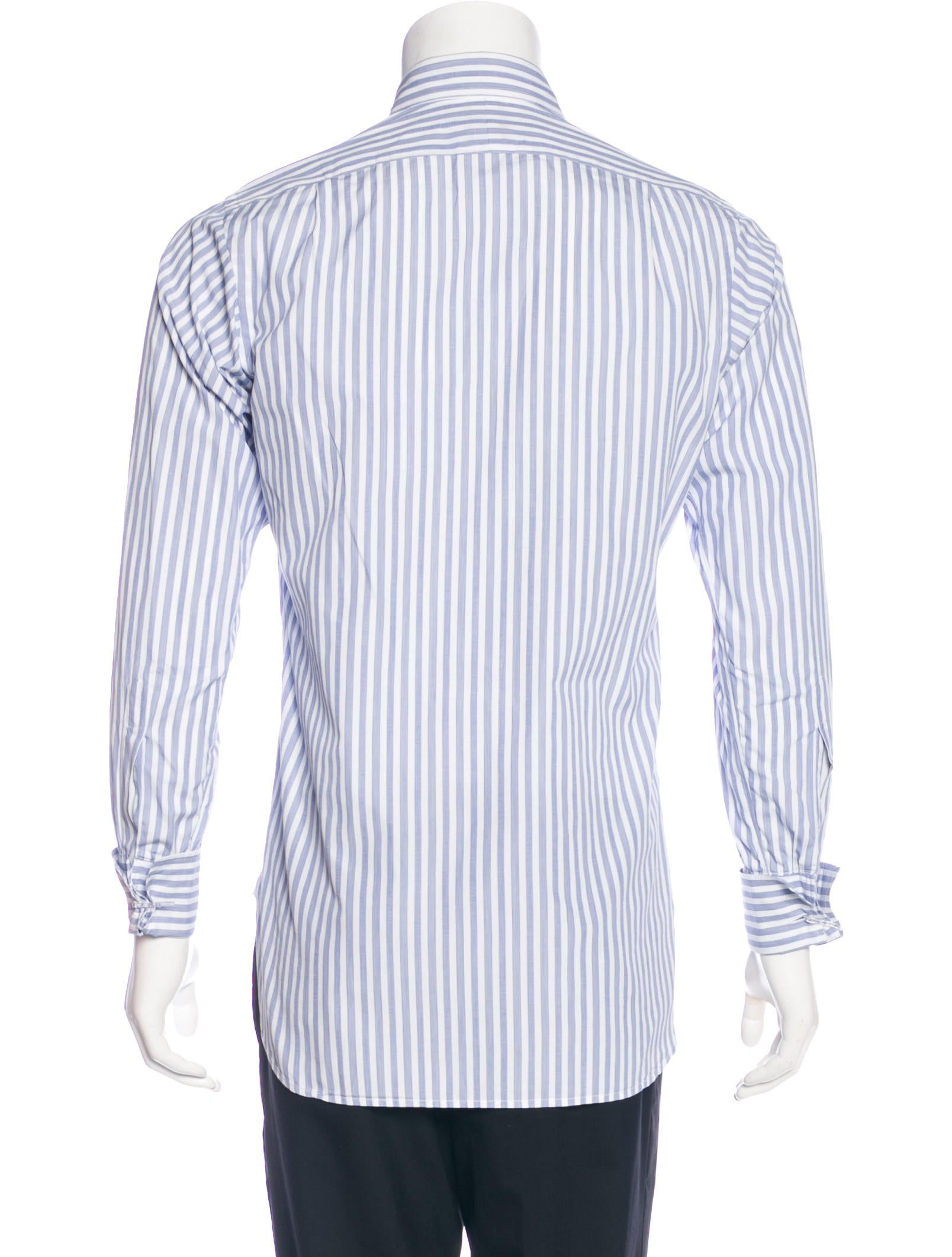 turnbull asser striped french cuff shirt clothing. Black Bedroom Furniture Sets. Home Design Ideas