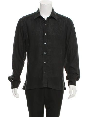 Turnbull & Asser Striped French Cuff Dress Shirt - Clothing ...