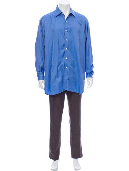 Turnbull & Asser Long Sleeve Dress Shirt Blue