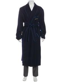 Turnbull & Asser Wool Graphic Print Robe