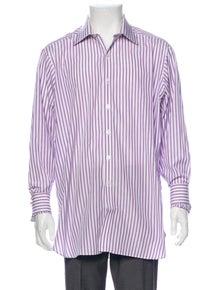 Turnbull & Asser Striped Long Sleeve Dress Shirt