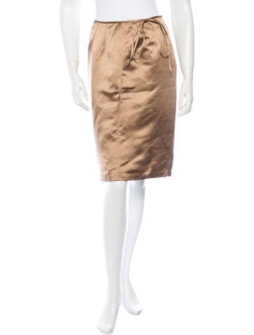 Blumarine Silk Knee-Length Skirt