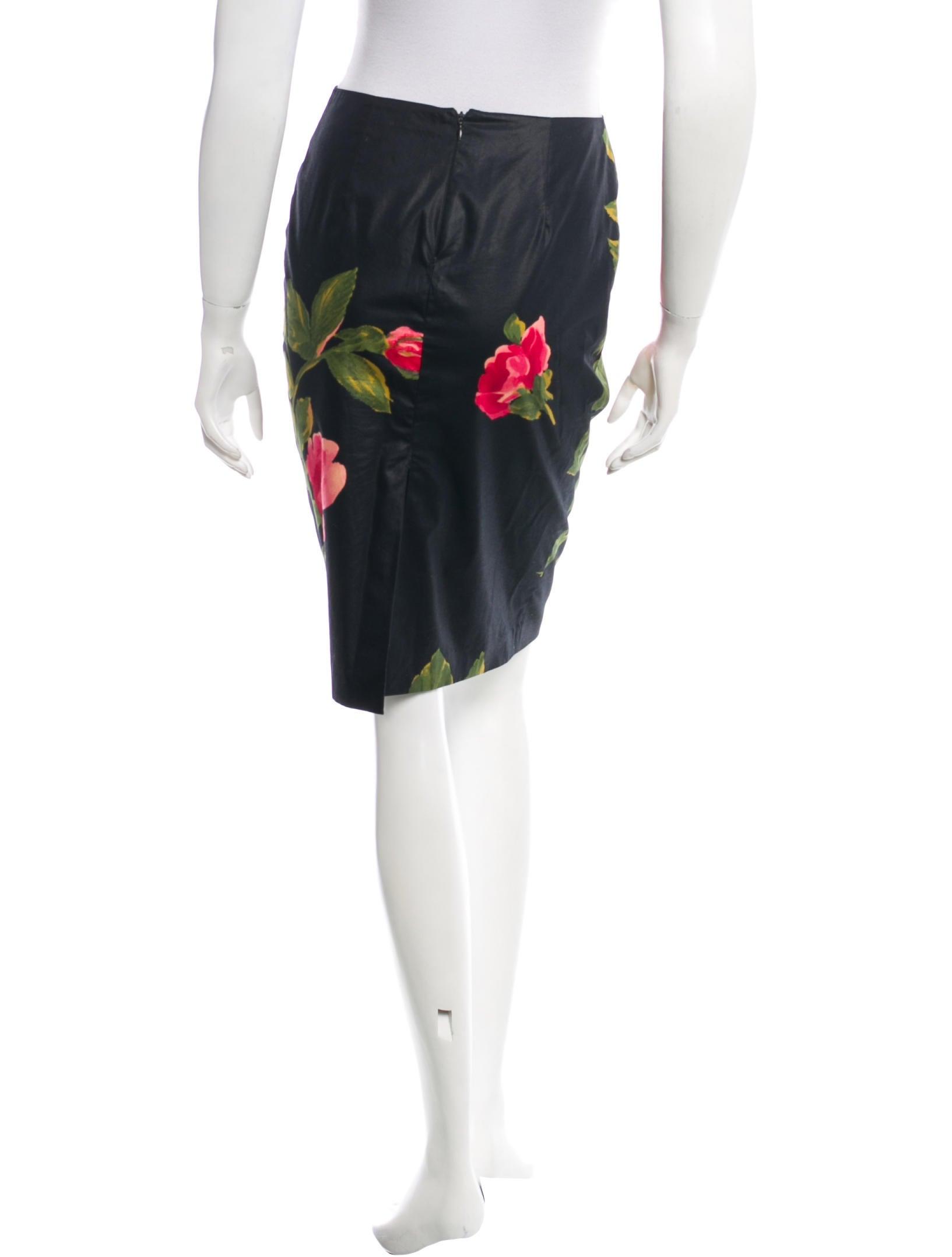 blumarine floral printed knee length skirt clothing