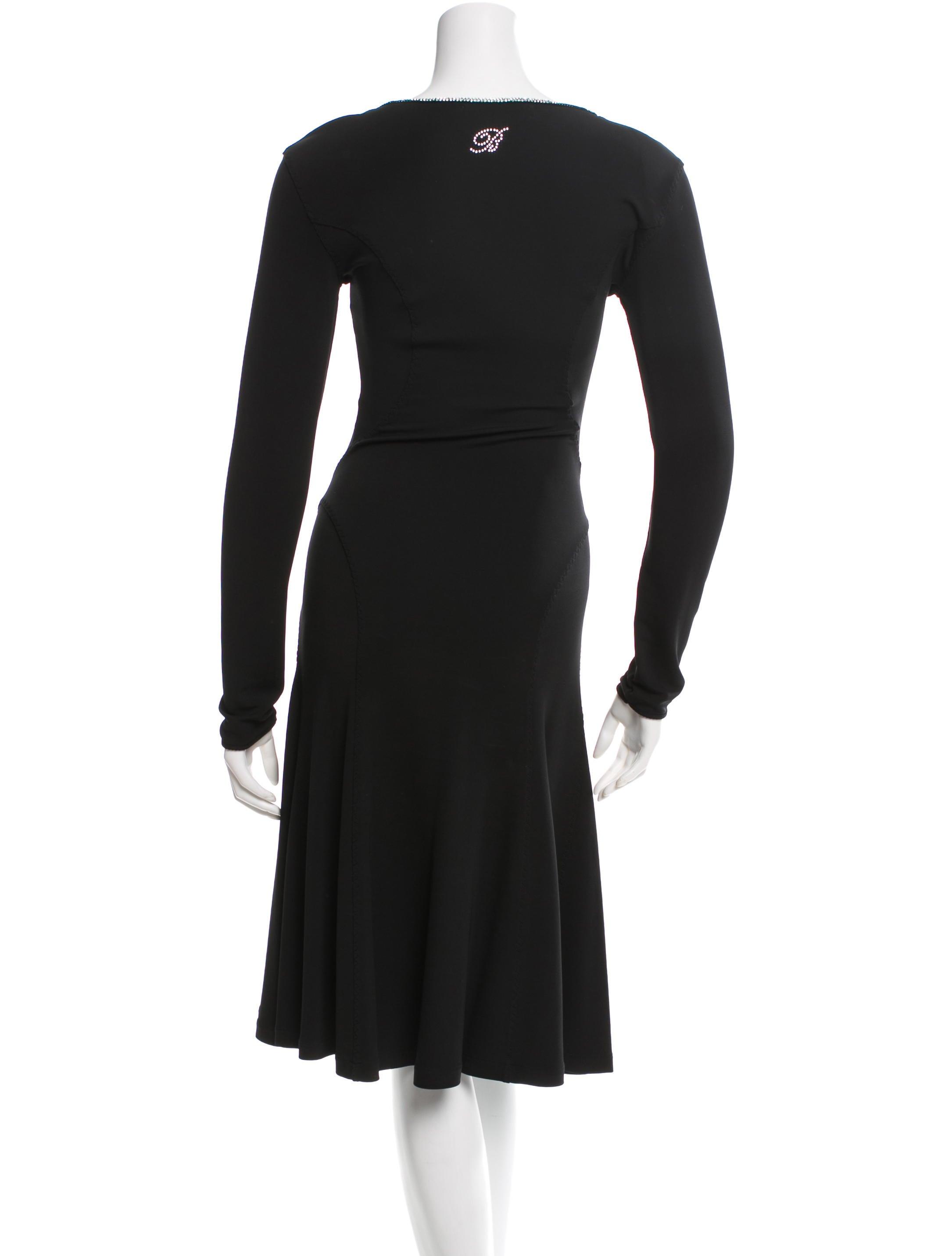 Blumarine A-Line Embellished Dress - Clothing