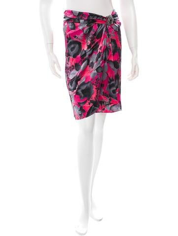 Blumarine Silk Printed Skirt None