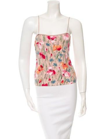 Blumarine Floral Knit Top None