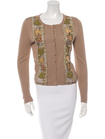 Blumarine Embellished Button-Up Cardigan None