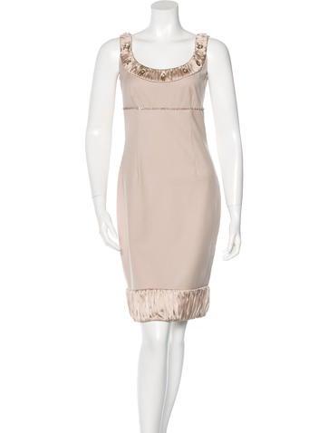 Blumarine Embellished Wool Dress None