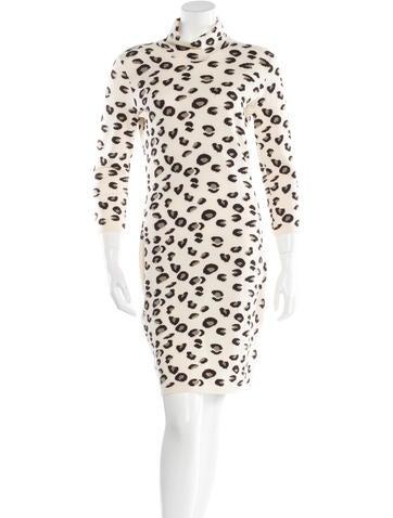 Blumarine Wool Printed Dress None