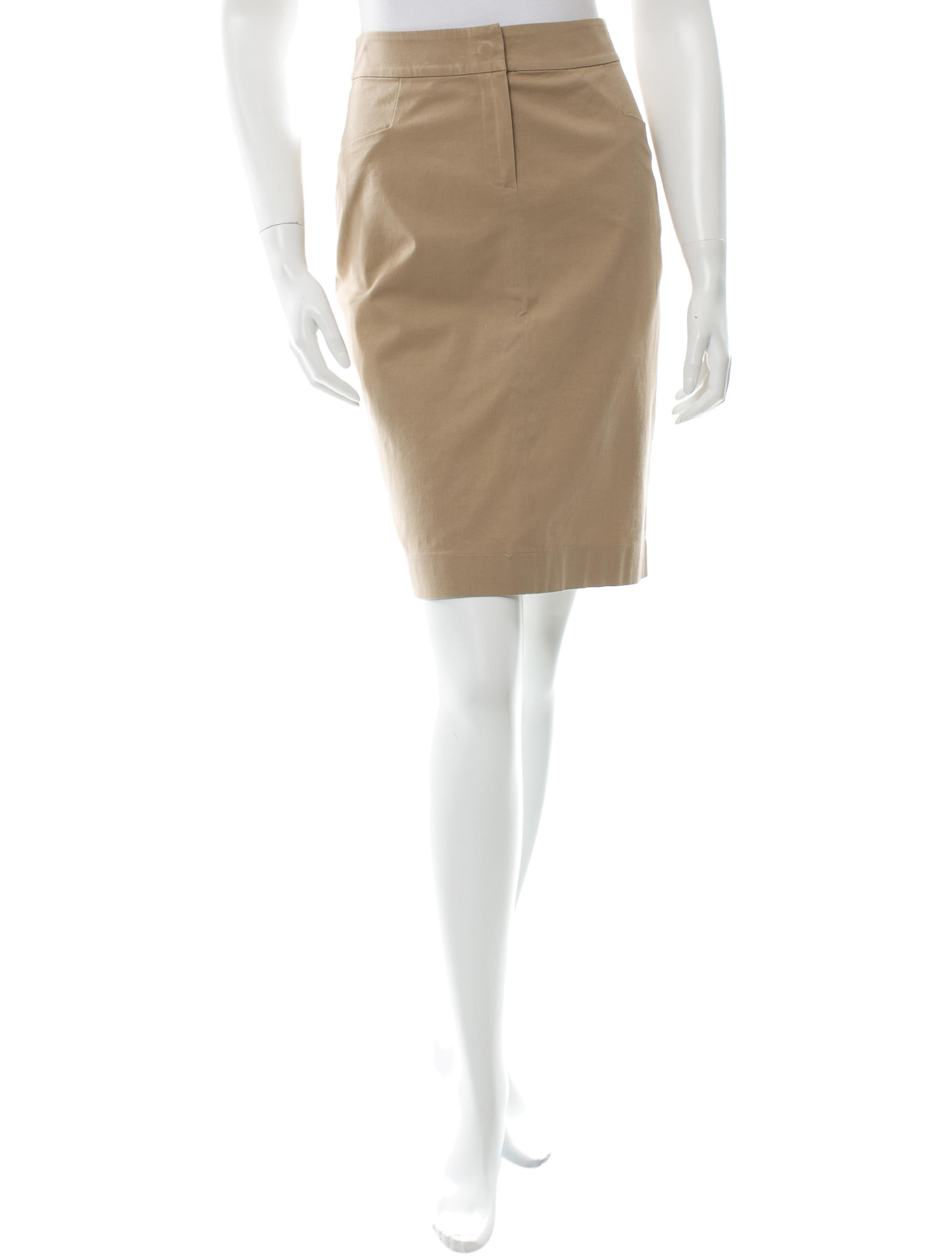 blumarine knee length pencil skirt clothing blu25457