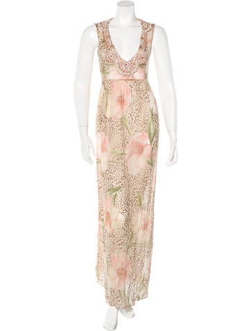 Blumarine Silk Embellished Dress None