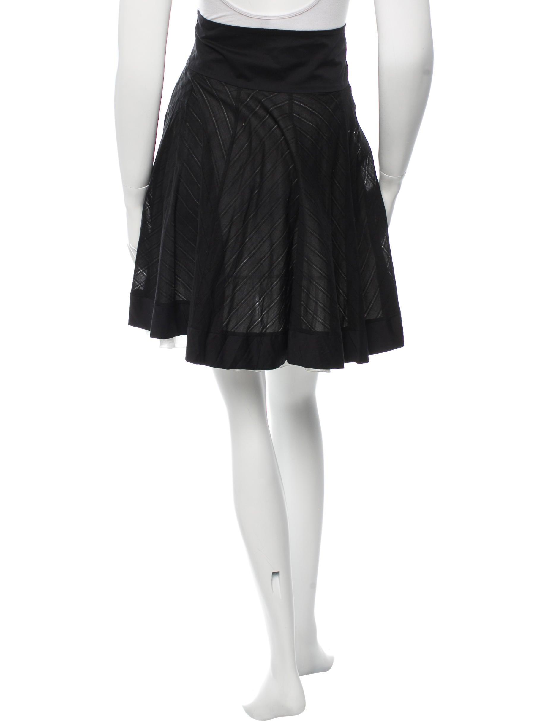 blumarine a line knee length skirt clothing blu25492