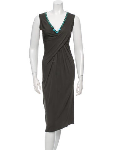 Blumarine Embellished Midi Dress None