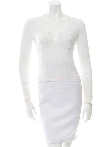 Blumarine Embellished Long Sleeve Top None