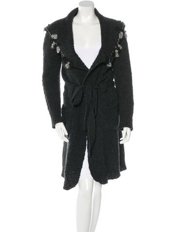 Blumarine Embellished Wool Cardigan None