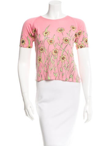 Blumarine Floral Print Cardigan Set None