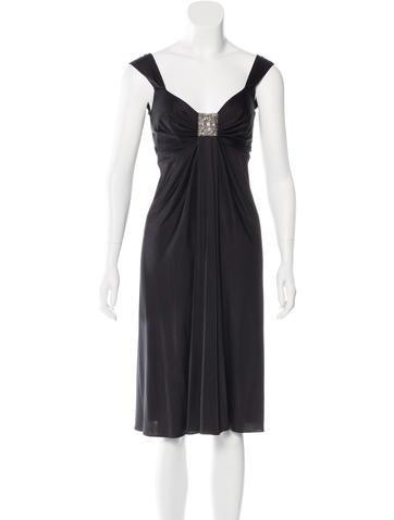 Blumarine Embellished Sleeveless Dress None